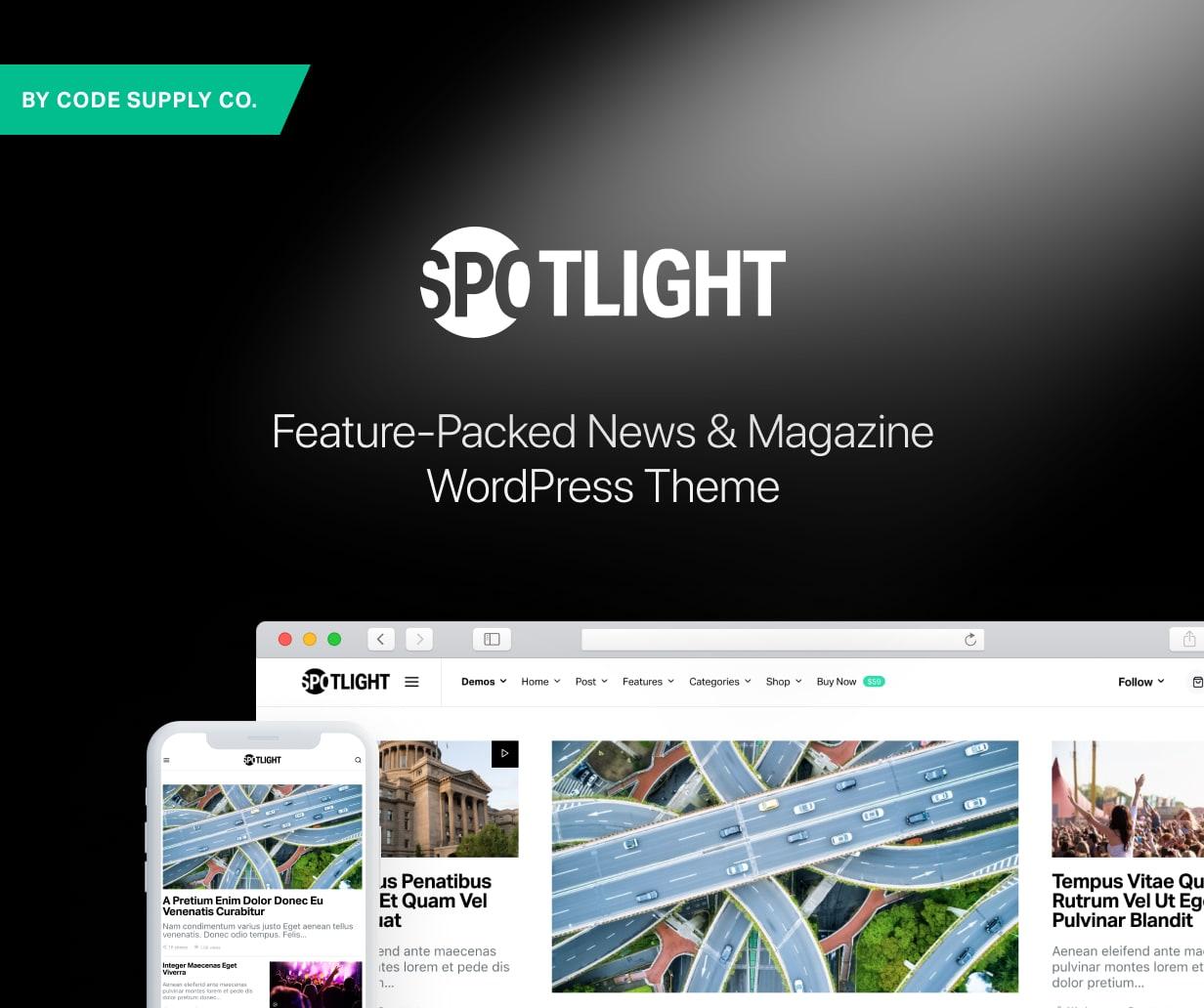 Spotlight - Feature-Packed News & Magazine WordPress Theme - 1