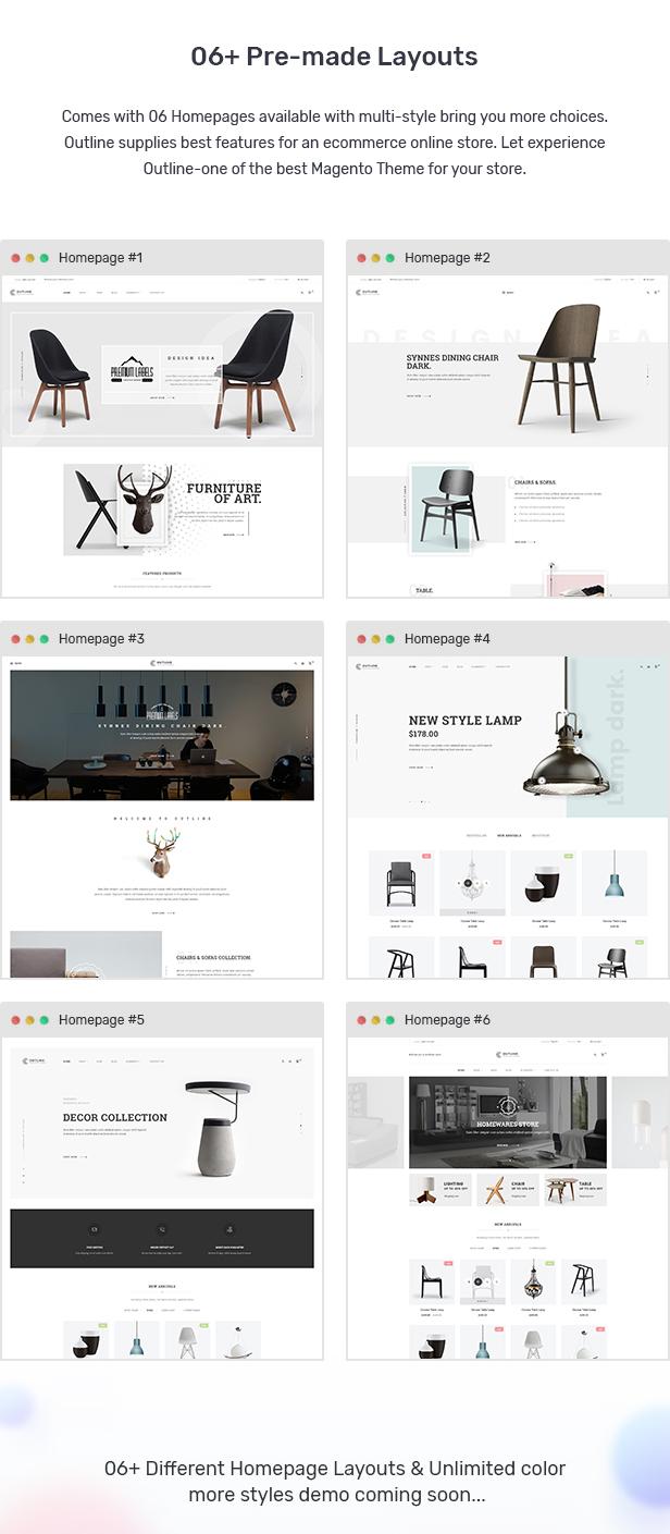 Outline - Responsive Furniture Magento Theme
