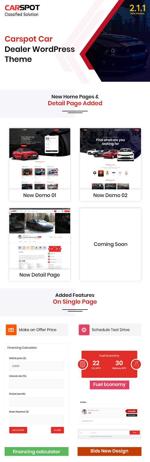 carspot new home pages