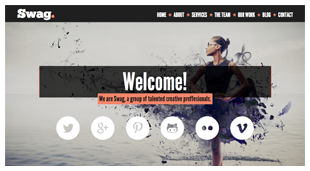 Swag One Page Parallax Portfolio Template By BeantownThemes - Html welcome page template