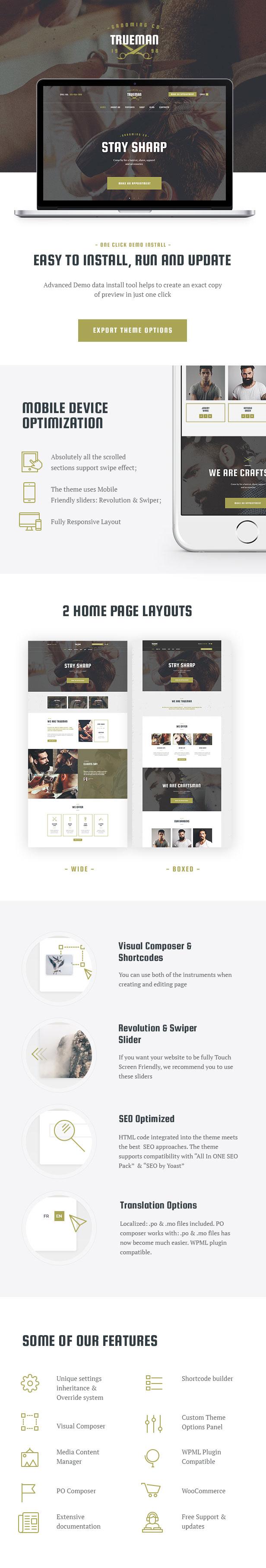 Hairdressers & Barbershop WordPress Theme features