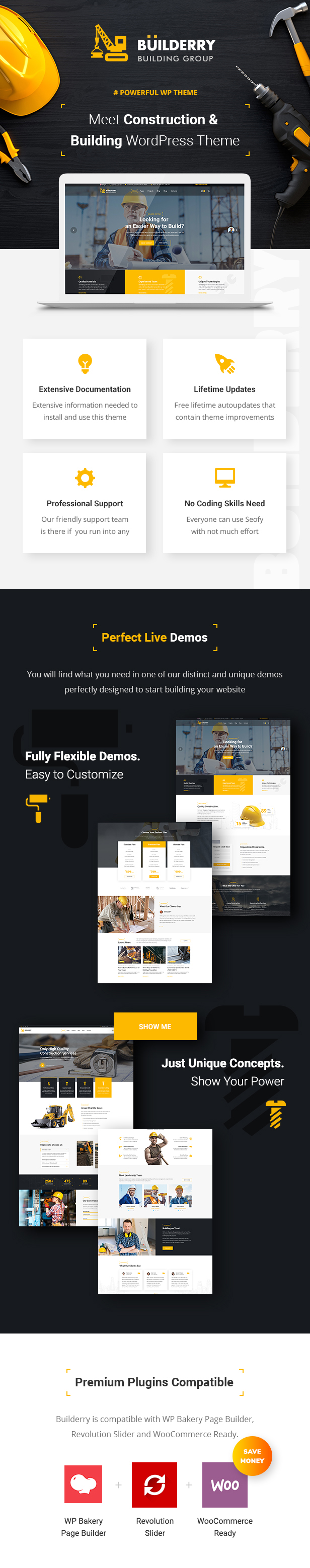 Builderry - Construction and Building WordPress Theme - 1