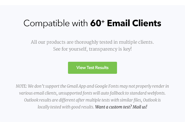 View Email Client Test Results