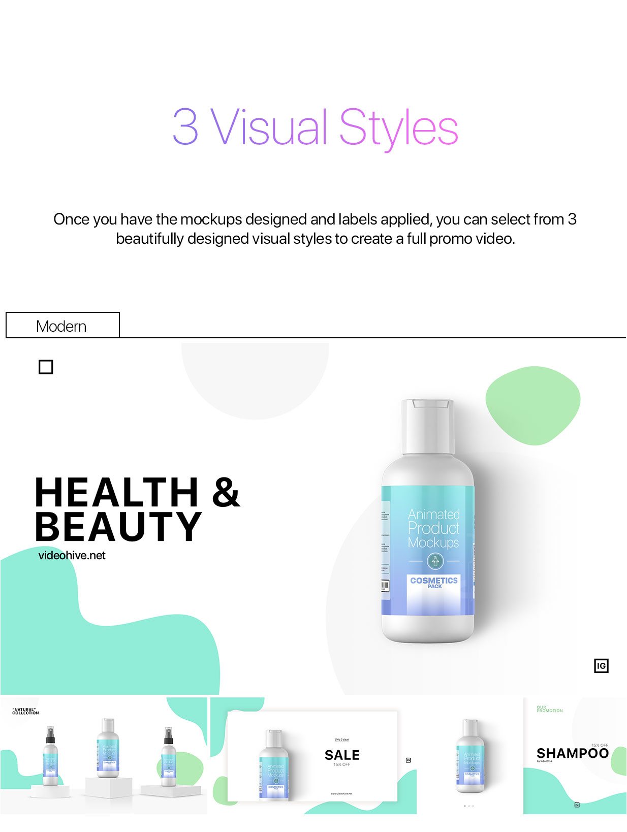 Animated Product Mockups - Cosmetics Pack - 6