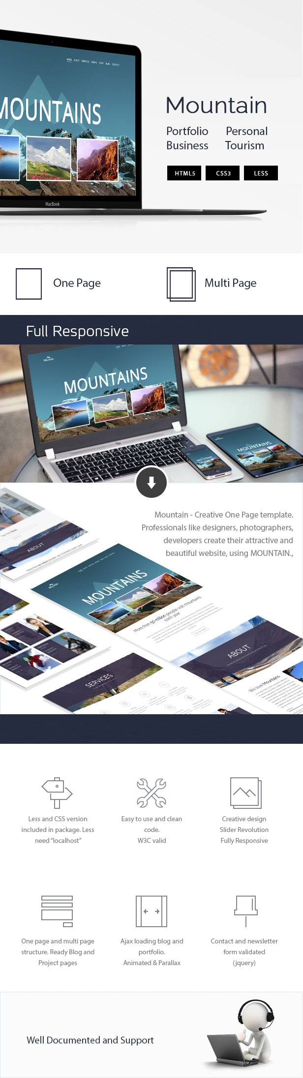 Mountain - Creative OnePage & MultiPage Template - 1
