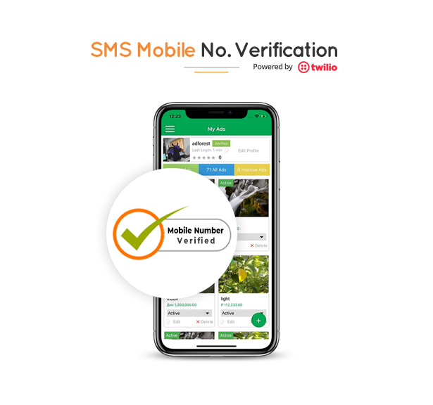 mobile no verification