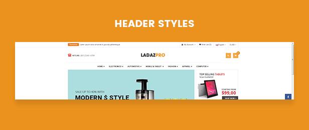ladazpro - Opencart Theme