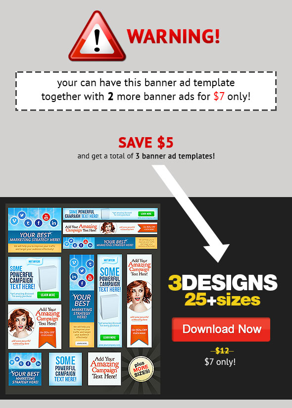 web banner design template