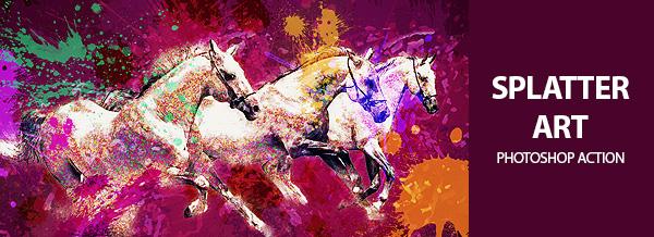 Splatter-Art-Banner