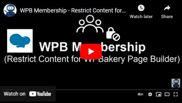 WPB Membership - Restrict Content for WPBakery Page Builder - 4