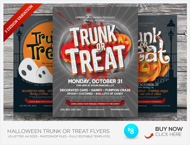 halloween carnival flyer templates by kinzi21 graphicriver