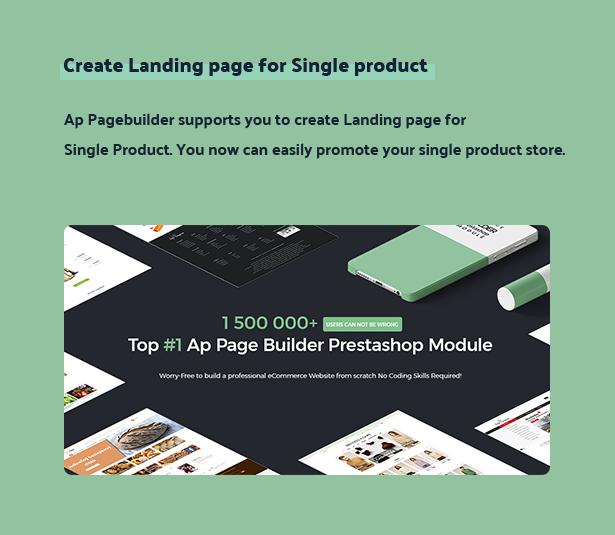 create landingpage for single product