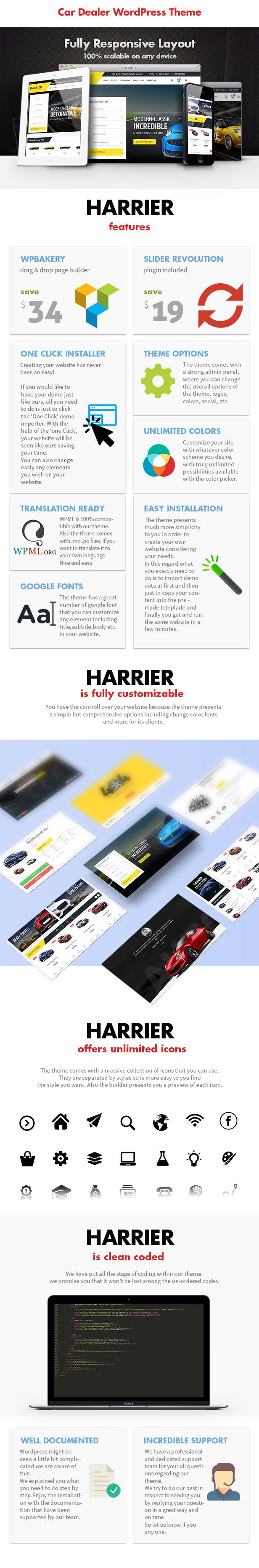 Harrier - Car Dealer and Automotive WordPress Theme - 3