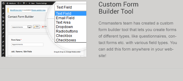 Wordpress Contact Form Builder