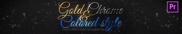 Adobe Premiere Pro Presets Gold Chrome Colored Steel Titles