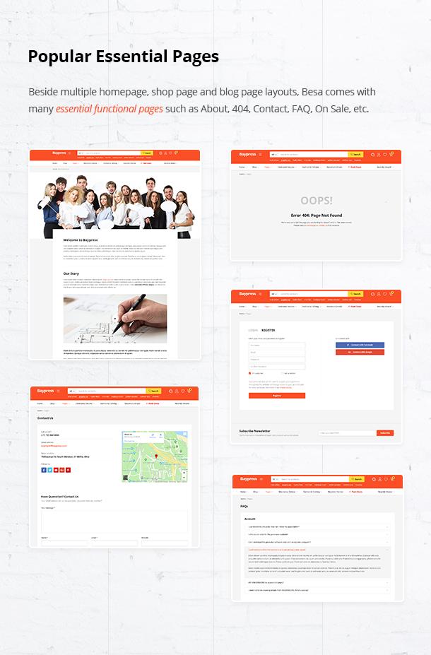 Besa - Elementor Marketplace WooCommerce Theme - 20