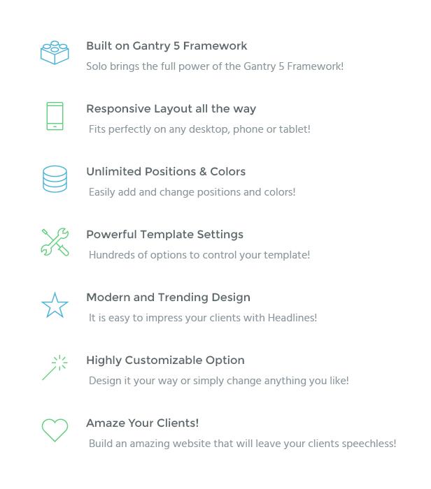 IT Solo - Gantry 5, Small Businesses Joomla Template - 2