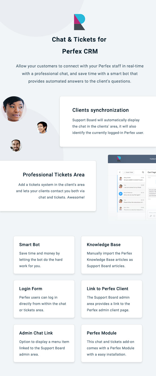 Perfex CRM Chat & Tickets App for Support Board - 3