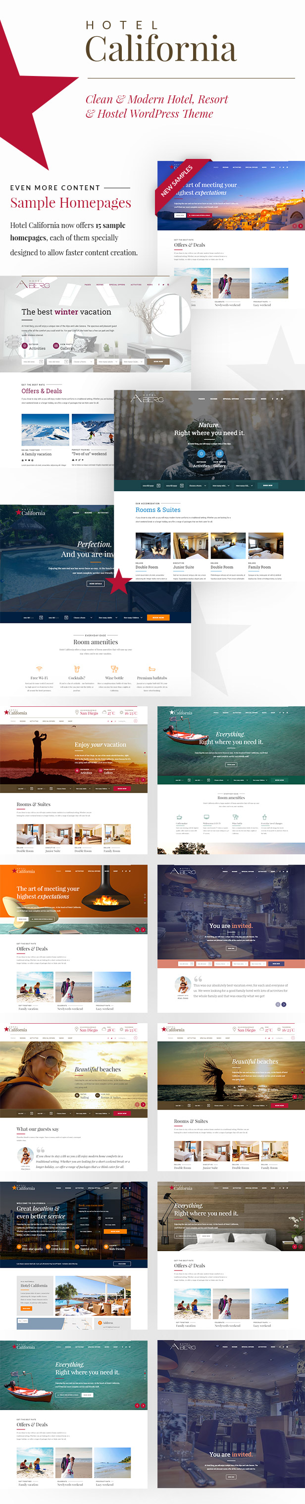 Hotel & Hostel Wordpress Theme - Hotel California - 1
