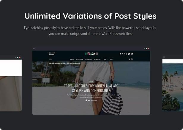 Pixwell post styles