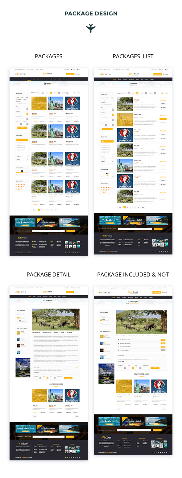 Travel PSD Template - 9