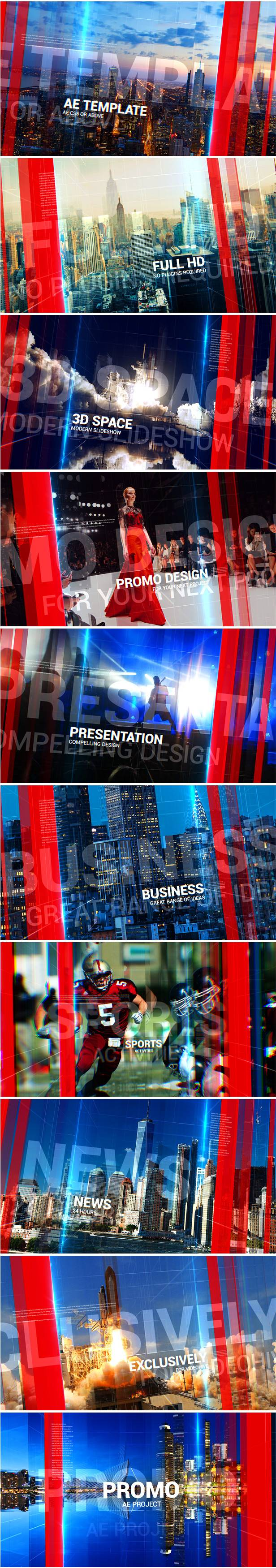 Promo Slideshow After Effects Template