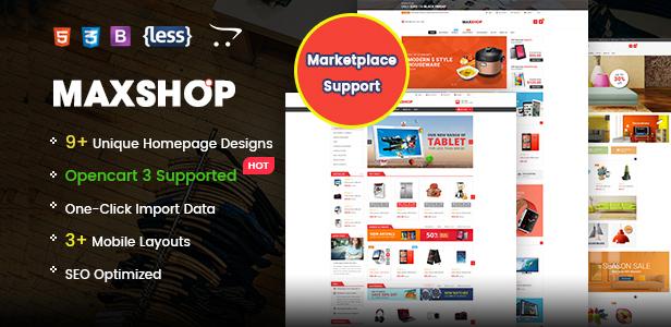 Maxshop - Responsive & Multi-Purpose eCommerce HTML Template - 1