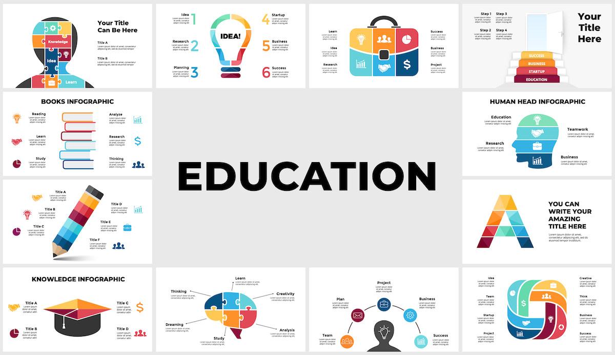 Huge Infographics Bundle! Lifetime Updates! PowerPoint, Photoshop, Illustrator. - 100