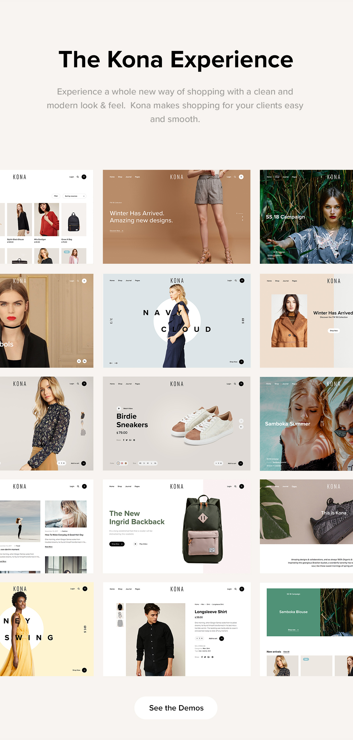 Kona - Modern & Clean eCommerce WordPress Theme - 8