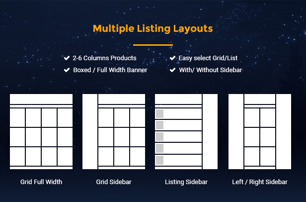 Topz - listing layouts
