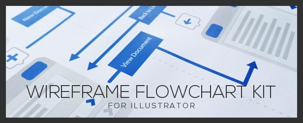 Wireframe Flowchart Kit | Illustrator Action
