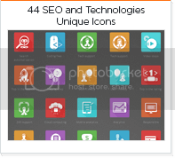 44 seo and technologies icons