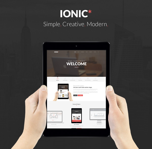 Ionic Responsive Template v1 0 1