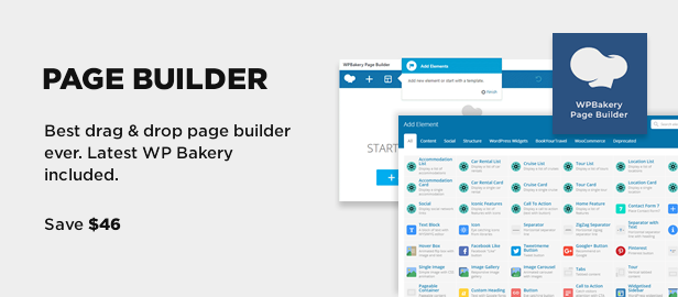 WPBakery Page builder - Visual Composer included