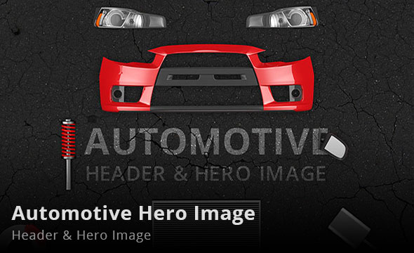 Automotive Header and Hero Image Mockup