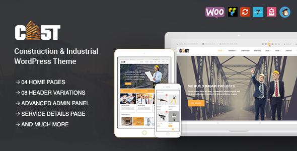 CAST - Construction, Industrial & Building Responsive WordPress Theme