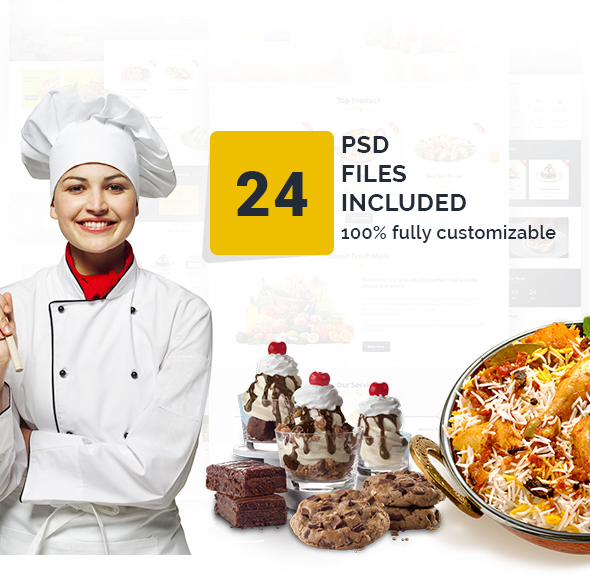 FreshMeal - Organic Foods & Store PSD Template