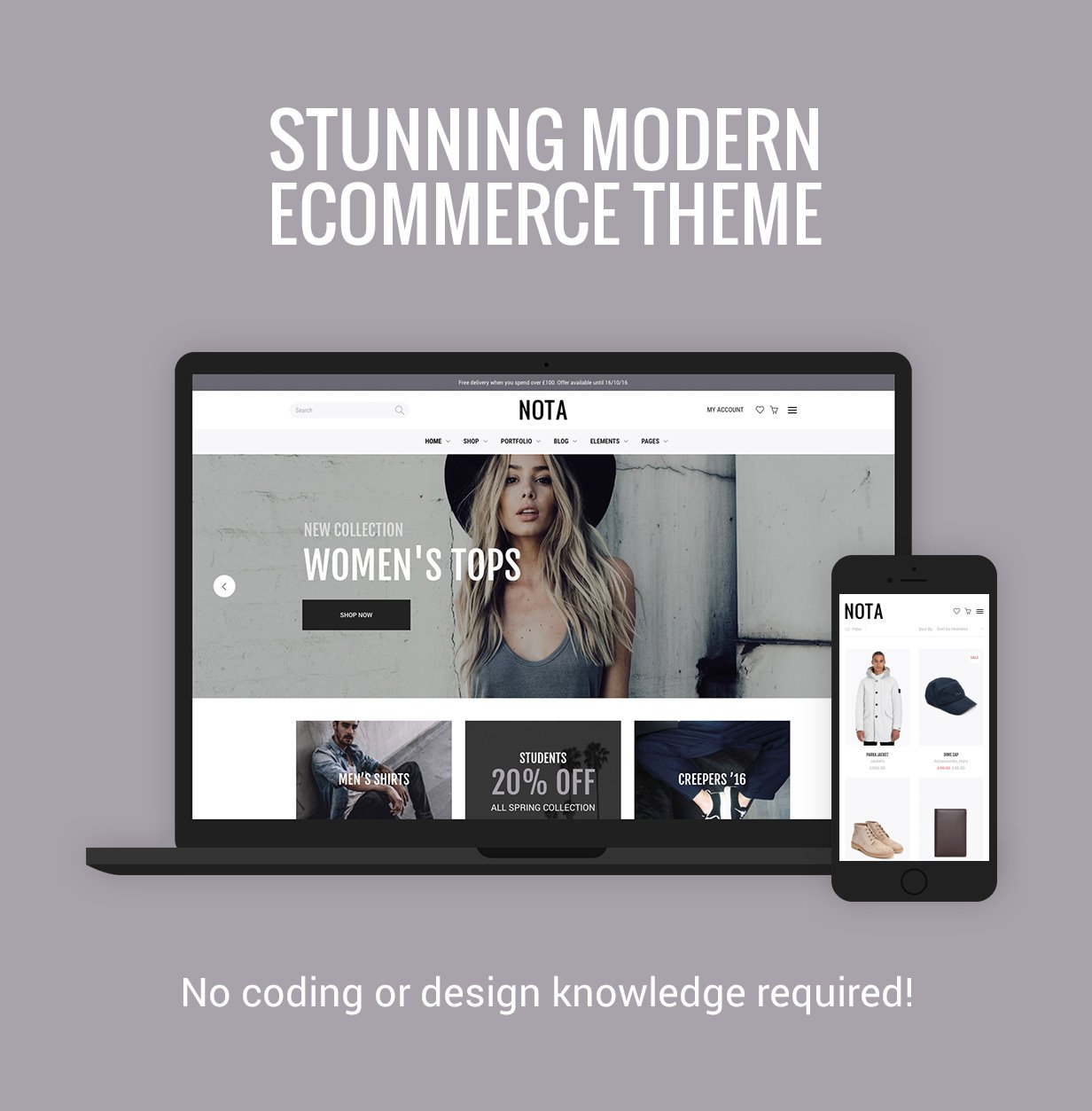 Nota - Creative Multi-Purpose eCommerce Theme - 1