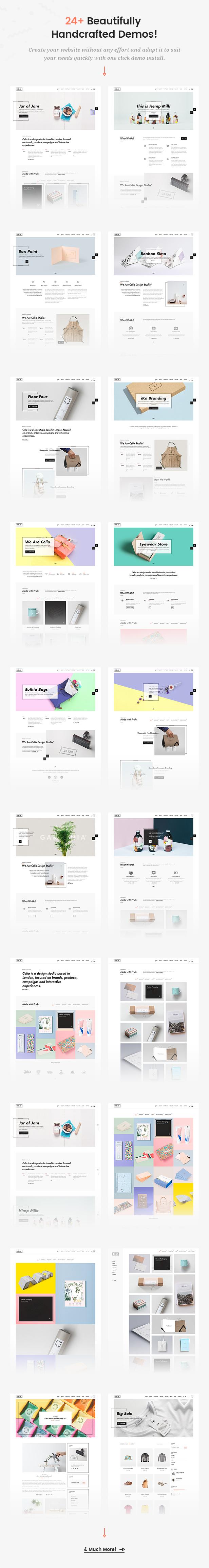 Celia - Innovative and Inspiring Portfolio WordPress Theme for Modern Agencies and Freelancers - 2