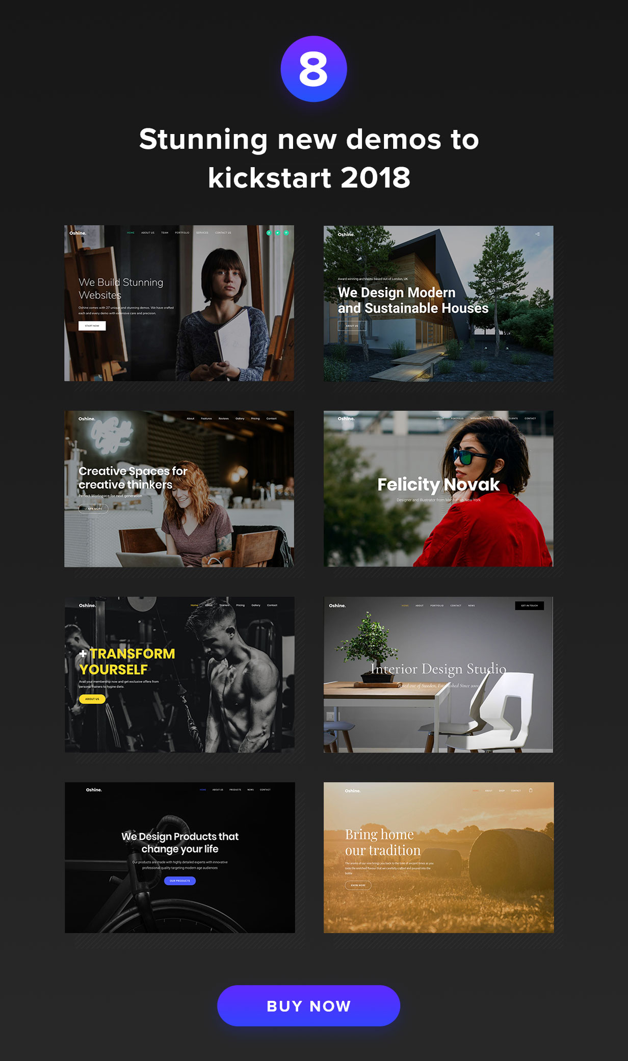 Oshine - Portfolio Wordpress Theme