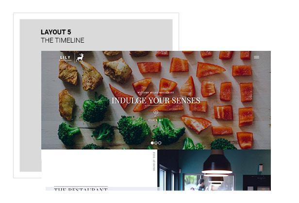 Lily | One Page Restaurant WordPress Theme - 5