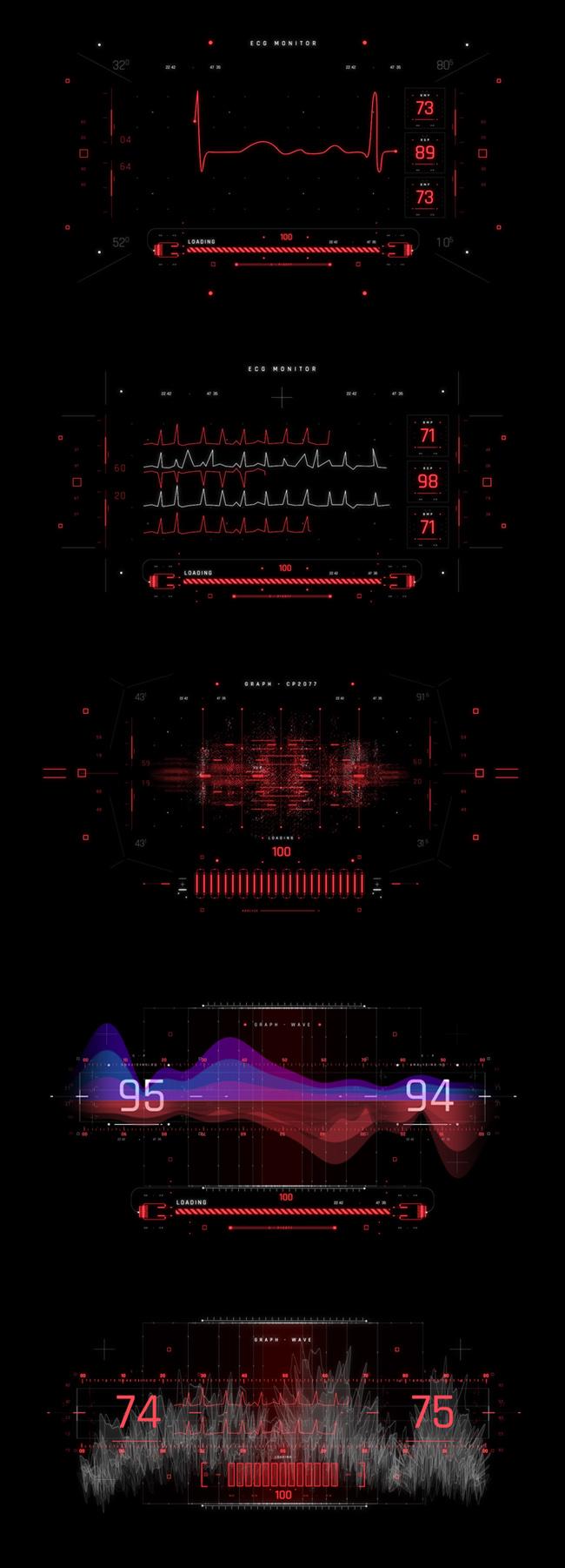 AE脚本-500个HUD高科技赛博朋克UI科幻界面元素动画预设包 Cyberpunk HUD UI 500+ 已修复中文版AE表达式报错插图26