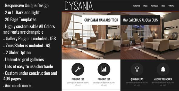 DYSANIA - Responsive Wordpress Grid Gallery Plugin - 1