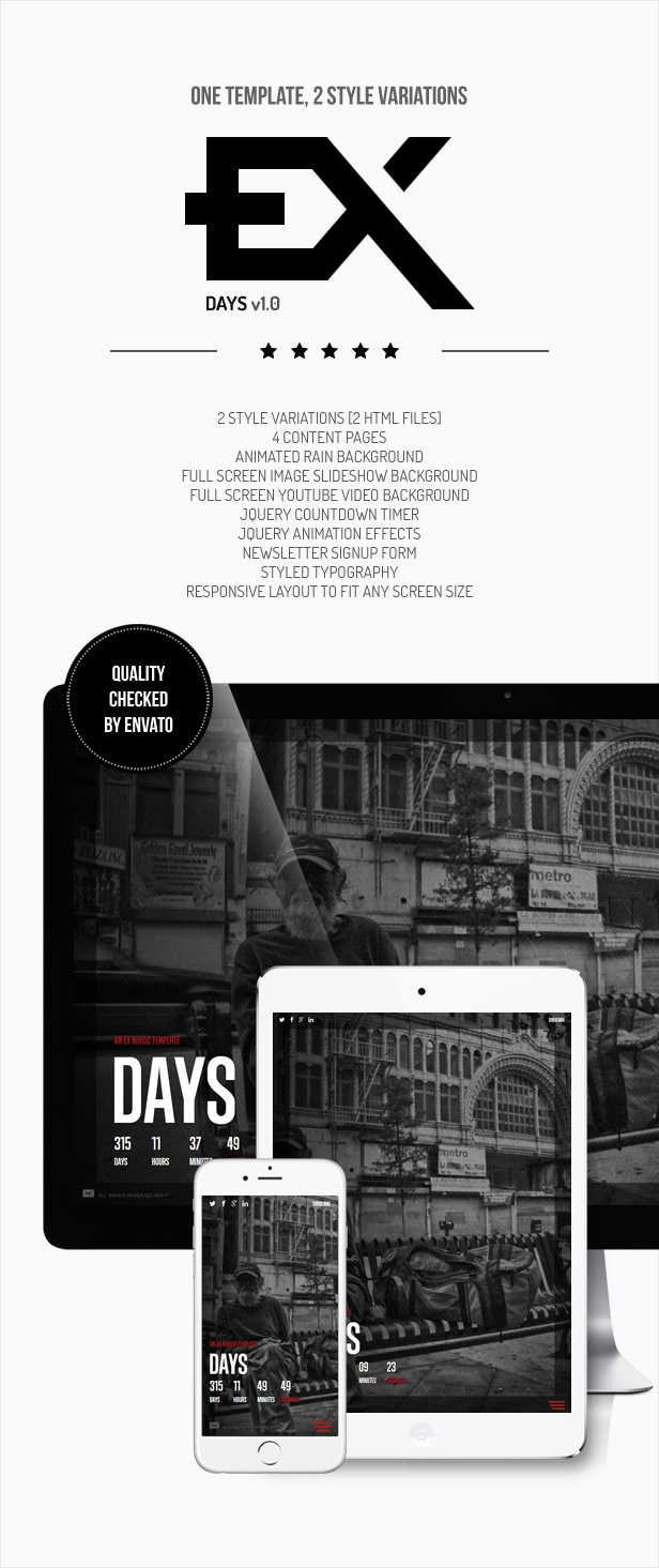 Days -- Responsive Coming Soon Page