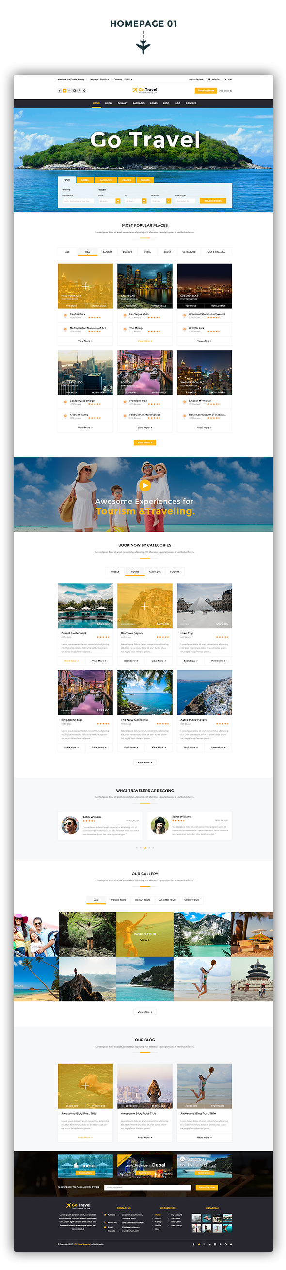Travel PSD Template - 2