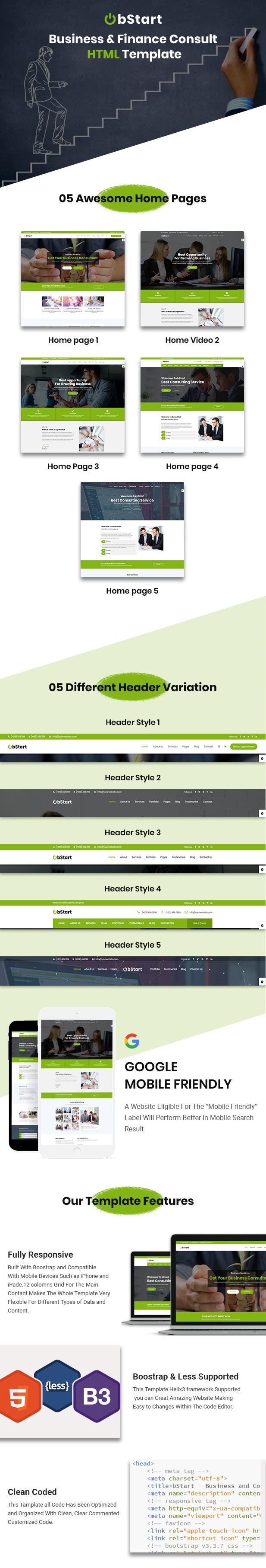 Bstart - Business & Finance HTML Template