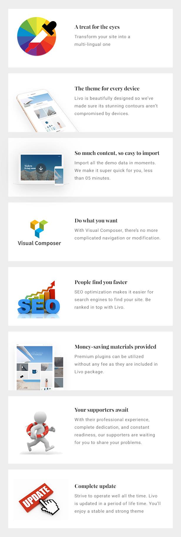 Livo - A Clean & Minimal Portfolio WordPress Theme - 6