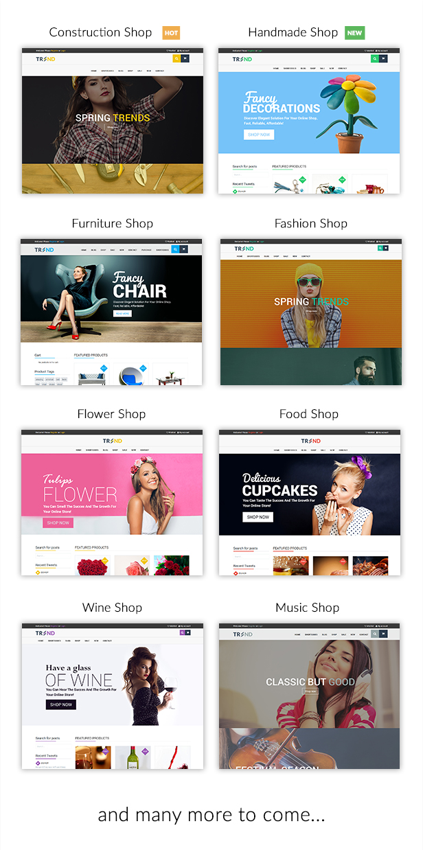 Trend - Multipurpose / Fashion / Restaurant / Construction / Modern Shop WooCommerce WordPress Theme - 16