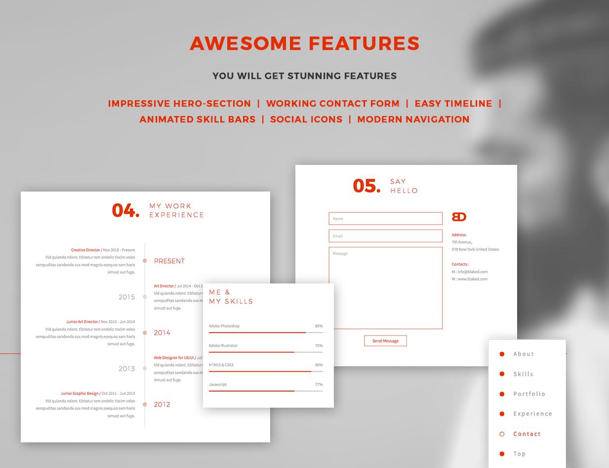 BlakeD - Portfolio & Resume Template - 15