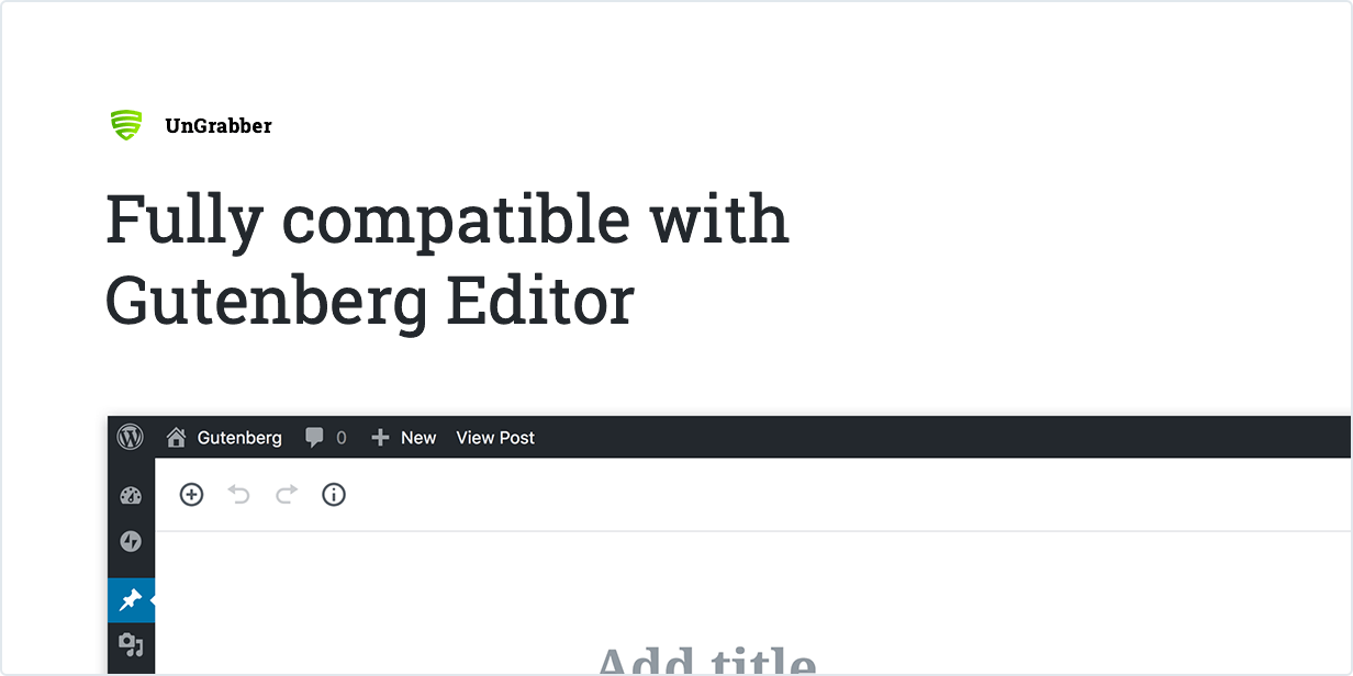 Fully compatible with Gutenberg Editor